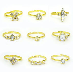 Adjustable Rhinestone Rings