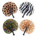 Animal Print Paper Hand Held Fan