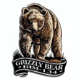Imprint Magnet Grizzly Bear