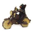 Bear Riding Motorcycle Figurine