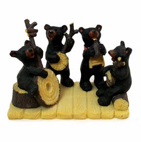 Black Bear Figurine - Country Band