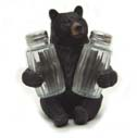 Black Bear Salt And Pepper Shaker Holder