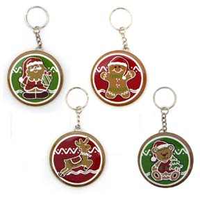 Christmas Keychains - CLOSEOUT PRICE