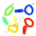 Wrist Coil Key Chains With Whistle
