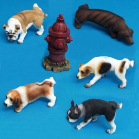 Dog Lifting It's Leg Figurine Assortment