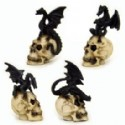 Dragon On Skull Figurines