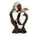 Native American With Eagles Figurine
