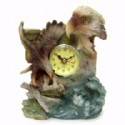 Eagle Scene Figurine With Clock