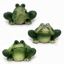 No Evil Frog Figurines