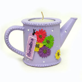 Grandma Watering Can Candle Holder