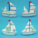 Miniature Sailboat Figurines