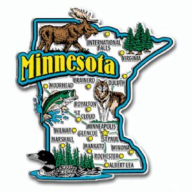 Souvenir Magnets Minnesota