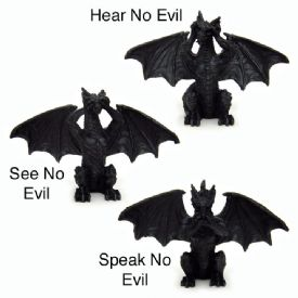 Dragon Figurines No Evil Style