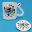 Ohio Souvenir Mug And Coaster Set Is 1 Piece