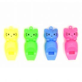 Plastic Whistles With Kitten Faces
