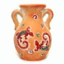Ceramic Vase With Gecko Scene