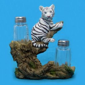 White Tiger Cub Salt And Pepper Set